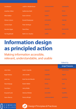 Information design as principled action - is