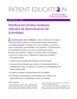 Patient Education Pamphlet, SP024, Planificación familiar mediante