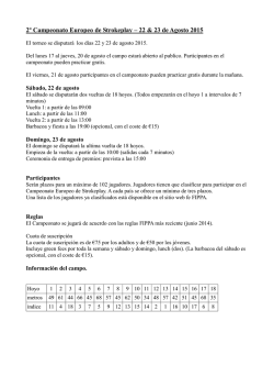 Orvelte Programa - Pitch and Putt Euskadi