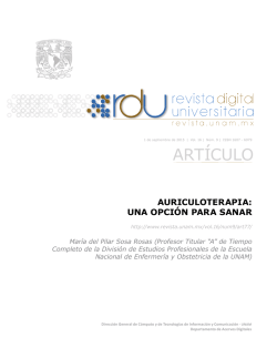 ARTÍCULO - Revista Digital Universitaria