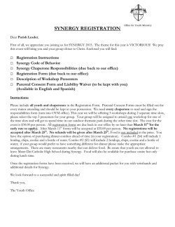 Synergy Registration Form