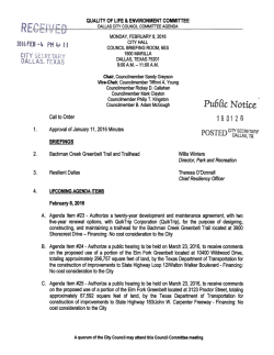 Pu6 [ic Notice - - City of Dallas, City Secretary`s Office