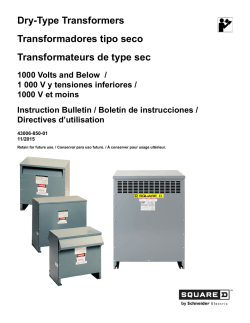 Dry-Type Transformers Transformadores tipo seco Transformateurs
