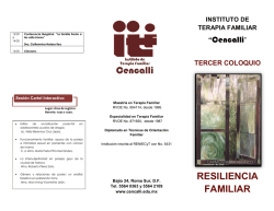 RESILIENCIA FAMILIAR - Instituto de Terapia Familiar Cencalli