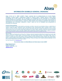 Documentos para Asamblea Ordinaria