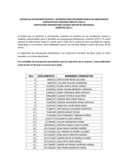 Nro DOCUMENTO NOMBRES COMPLETOS