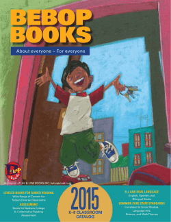 Bebop Books Catalog