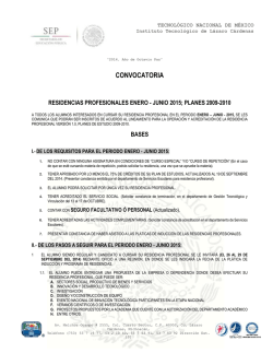 convocatoria residencia ene-jun- 2015