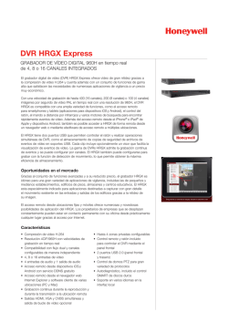 DVR HRGX Express - Honeywell Security