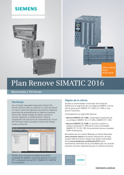 Plan Renove SIMATIC 2016