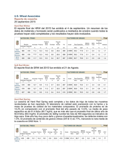 Reporte de Cosecha - US Wheat Associates