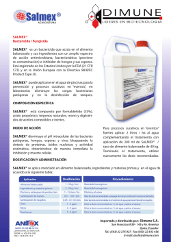 SALMEX Preservante antimicrobial
