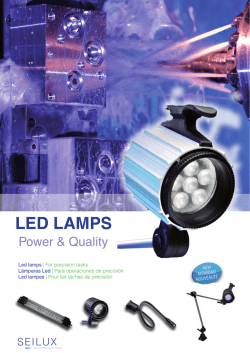 Lámpras LED - LED lamps for machines