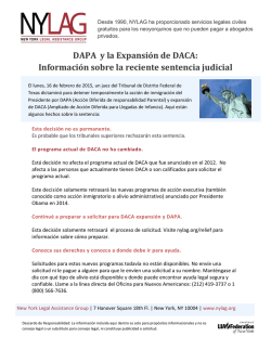 DAPA y la Expansión de DACA - New York Legal Assistance Group