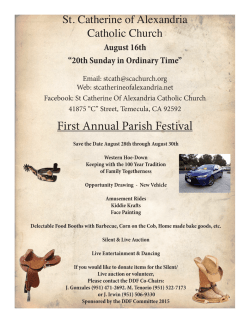 First Annual Parish Festival - St. Catherine of Alexandria Temecula
