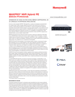 MAXPRO® NVR Hybrid PE - Honeywell Video Systems