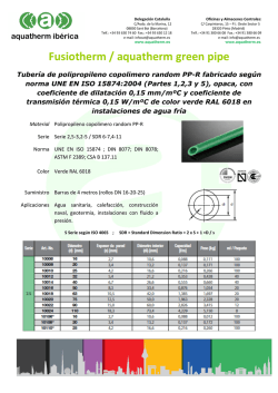 Fusiotherm / aquatherm green pipe