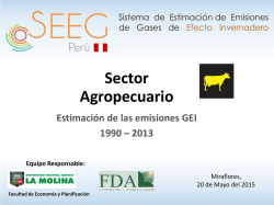 Estimación de las emisiones GEI del sector 1990 - disponible