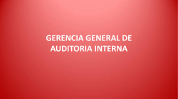 gerencia general de auditoria interna