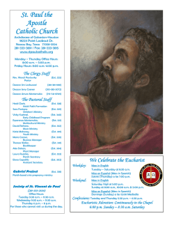 May 31, 2015 - St. Paul the Apostle Catholic Church