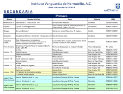 Secundaria - Instituto Vanguardia
