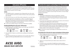 AV30 AV60 Auto power-off function