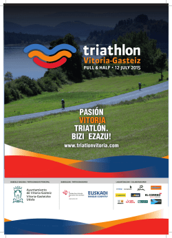 Descargar Dossier de prensa Triathlon Vitoria