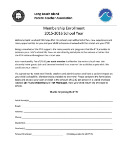 Membership Enrollment 2015-2016 School Year