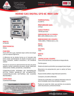 HORNO GAS DIGITAL GFO-6C INOX 110V [06001080].cdr