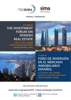 ThE InvEsTmEnT Forum on spanIsh rEal EsTaTE Foro