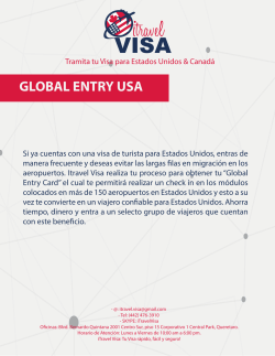 Servicios GLOBAL ENTRY USA