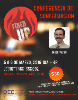 Confirmation Conference_2016_ESP.pages