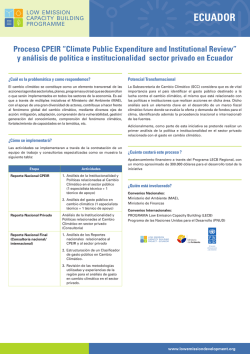 "Proceso CPEIR ""Climate Public Expenditure and Institutional"