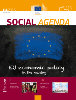 Social Agenda 40 - EU economic policy in the making