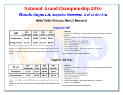 National Grand Championship 2016 Mundo Imperial