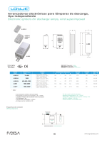 Arrancadores electrónicos para lámparas de descarga, tipo