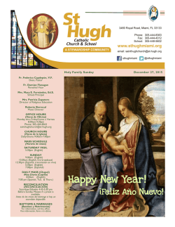 Happy New Year! - St. Hugh Catholic Church