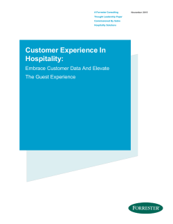 Customer Experience In Hospitality: