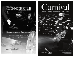 Carnival Program Reader - Turning Point Ensemble