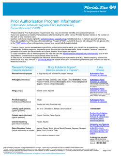 Prior Authorization Program Information*