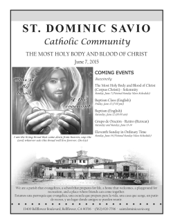 June 7, 2015 - St. Dominic Savio Church