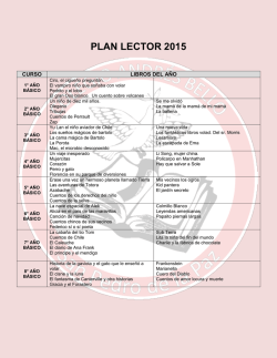 PLAN LECTOR 2015