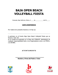 BAJA OPEN BEACH VOLLEYBALL FIESTA
