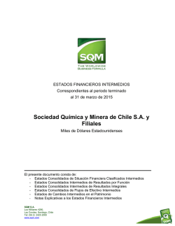 Estados Financieros SQM 31.03.2015