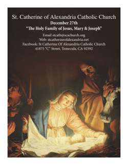 December 27th 2015 - St. Catherine of Alexandria Temecula