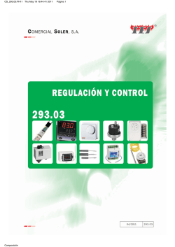 REGULACIÓN Y CONTROL
