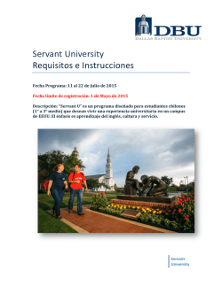 Servant University Requisitos e Instrucciones