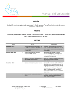 Manual del Voluntario - Fundacion El Angel de Miguel Cotto