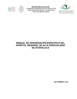manual de org. específico - Hospital Regional de Alta Especialidad