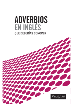 O los adverbios - Vaughan Systems